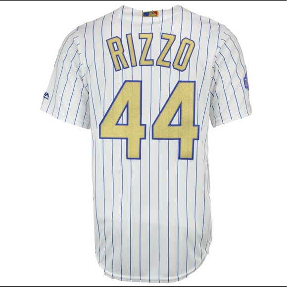 pretty nice af0ed ea8ab Men's Anthony Rizzo Chicago Cubs Gold Jersey (L)